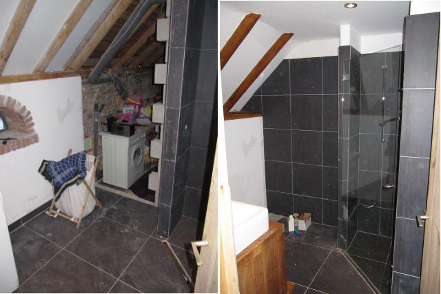 Van de deel naar een woonkamer - Moderne badkamer met italiaanse douche ...